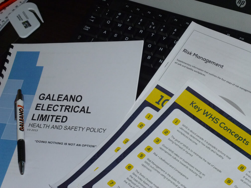 Work Health And Safety Policy Of Galeano Electrical Ltd